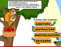 Monkey Math four operations